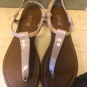 Trendy Sandals, nude, size 7-8